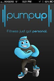 pump up fitness app for Iphone